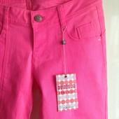 Розовые неоновые малиновые яркие джинсы скинни piazza italia