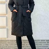 Новое стильное стеганое демисезонное пальто/куртка р.С/М