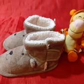 Теплые комнатные тапочки-ботинки TEX baby, разм. 20 (13,5 см внутри). В идеале!