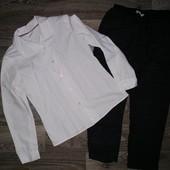 Супер комплект в школу: фирменная рубашка+брюки шерсть! 8-10 лет