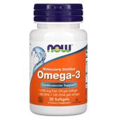 Омега-3, очищенная на молекулярном уровне, 30 капсул, США