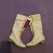 Сапоги кожа натуральная на шнуровке р 37