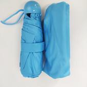Минизонт ,маленький зонтик от дождя | карманный зонт капсула | парасоля Capsule Umbre голубой