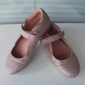 Нарядные блестящие туфельки Next стелька 20,5 см