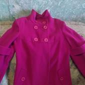 Пальто velanna цвет фуксия,кашемир супер лот !!!