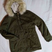 демисезонная женская куртка-парка М