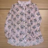 Блуза на девочку H&M с кроликами рубашка на девочку