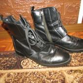 Ботинки осень, Кожа