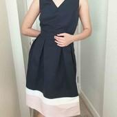 Платье нарядное от C&A пудровое на ПОГ 59см, синее на пог 50см