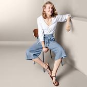 ☘ Стильні брюки-кюлоти льон для створення елегантного образу, Tchibo (Німеччина), р.:46-48(40 евро)