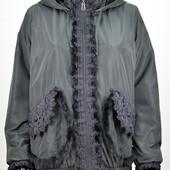Осенняя курточка от CityClassic с подкладкой из плюша р. 50 и 58