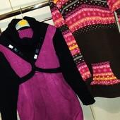 2 теплые платье-туники 7 лет одним лотом