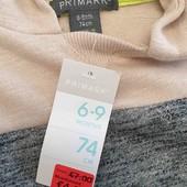 Primark худи кофта 6-9мес, 74см