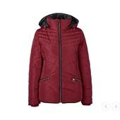 Стеганная женская куртка tcm tchibo, германия, бордовый, размер xxl