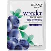 Тканевая маска для лица bioaqua с экстрактом черники и и гиалуроновой кислотой 30 мл