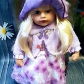 "Скоро новый год! Готовим подарки)))) Велика, інтерактивна лялька ""Панночка"". 120 фраз укр мова. 55см"