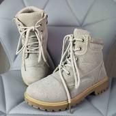 Демисезонные блестящие ботиночки в хорошем состоянии