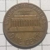 Монета США 1 цент 1963