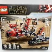 уценка Lego star wars 75250 погоня на спидерах в пасаане