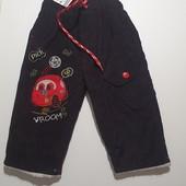 Теплые штаны на травке 6м-12м+