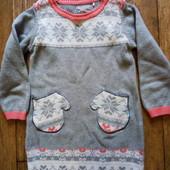 Теплое платье туника на 2-3 года