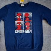 Свитер свитшот Spiderman на 7-8 лет рост 122-128! Фирменный! хлопок! Замеры!