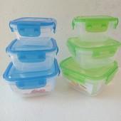 Набор пластиковых контейнеров (275,500,900мл) star plast.100% герметичность.1 набор