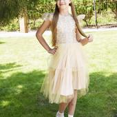 Нарядное платье для девочки в двух цветах