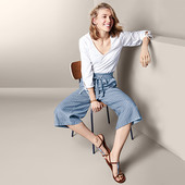 ☘ Стильні брюки-кюлоти для створення елегантного образу, Tchibo (Німеччина), рр .: 44-46 (38 евро)