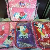 Подростковая портфель - сумка. цвета на выбор красный, розовый, фиолетовый.