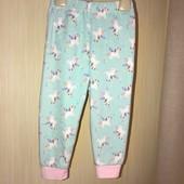 Флісові піжамні штанці на вік 18-24 місяців