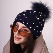 Стильна класнюча шапка бусинками , ремендую покупкою будете задоволенні