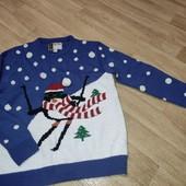 Новогодний свитер с пингвином Cedar Wood state L