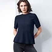 Стильная блуза с воланом Tchibo (Германия), размер евро 40 (наш 46)