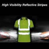 футболка поло с светоотражающими лентами ПОГ 56см