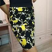 Стильная стрейчевая юбка карандаш на М-L