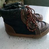 Ботинки кожаные для мальчика, размер 27