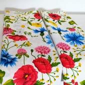 Цветы! Набор полотенец из хлопка отличного качества!