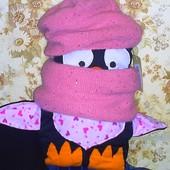 Шапка теплая+снуд(шарф)\ Новая