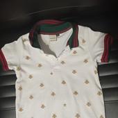 Gucci Kids рубашка поло с узором GG, футболка