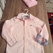 Стоп!! Фирменная удобная яркая натуральная красивая стильная рубашка отh&m