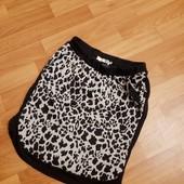 Теплая юбка с карманами в модный принт от VRS на р.S,М в идеале