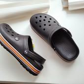 Кроксы сабо шлепки Даго стиль легкие,удобные черные 42= 27см