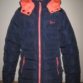 1/695. Куртка для девочки. На 10 лет (см. замеры). cars jeans. В отличном состоянии!