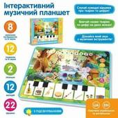 Дитячий музичний планшет «Зоопарк» Limo Toy   Дитячий розвиваючий музичний планшет