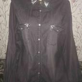 Джинсовая рубашка 16 р евро!