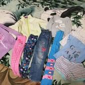 Одним лотом одежда для девочки 5-6лет. 10единиц