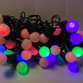 Гирлянда мультицвет, гирлянда шары, гирлянда елочная 40 - LED 6 метров