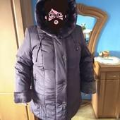 новая шикарное зимнея курточка большого размера!
