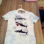 Стоп!! Фирменная удобная яркая натуральная красивая стильная футболка с паетками перевёртыш отh&m(не